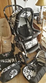 Full set,2in1 stroller for a NBbaby untill 4Years old in Ramstein, Germany