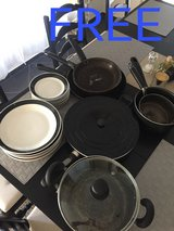 Used plates and pots in Ramstein, Germany
