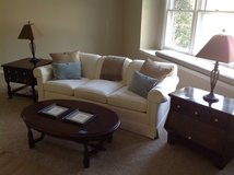 Ethan Allen sofa and tables in Bartlett, Illinois