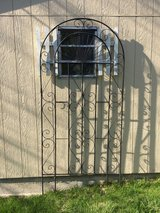 Black wrought iron trellis in Bartlett, Illinois