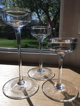 Set of 3 Tall Glass Candle Holders in Plainfield, Illinois