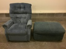 Chair and ottoman in Fort Campbell, Kentucky