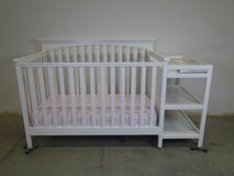 Beautiful White Baby Crib with Side Storage in Pasadena, Texas