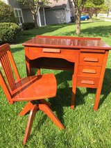 SOLID WOOD KIDS DESK AND CHAIR in Naperville, Illinois