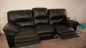 Reclining leather couch and love seat in Bartlett, Illinois