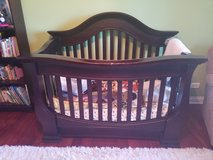 crib, 2 dressers and mattress with all the sheets in Naperville, Illinois