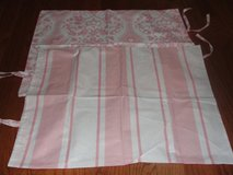 "2 SIDED DESIGN ""STRIPED & CROWN MOTIF"" PINK SHAMS (STANDARD SIZE) NEW NOT USED in Camp Lejeune, North Carolina"