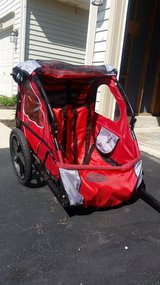 """2 seat gently used """"In Step"""" Bike trailer in Naperville, Illinois"""