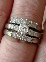 14k White gold with real diamond's  Size 9 in Fort Carson, Colorado