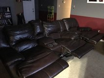Leather Couch, Loveseat and Recliner in Camp Lejeune, North Carolina