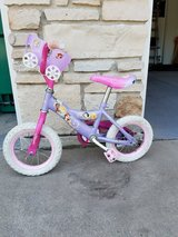 "12"" princess bike with training wheels in Naperville, Illinois"