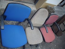 Different office chairs in Ramstein, Germany