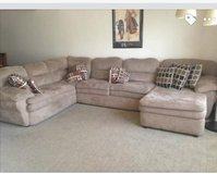 Large 3 piece sectional couch with lounge $140 obo in Fort Carson, Colorado