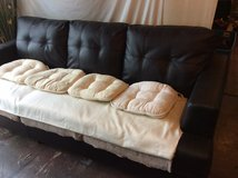 Black couch in Fort Campbell, Kentucky