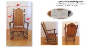 Special made rocking chair in San Diego, California
