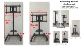 Adjustable height heavy duty display stand on wheels in San Diego, California