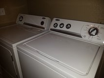 Whirlpool washer and dryer set in Travis AFB, California