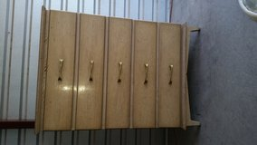 Tall chest of 5 drawers all wood made in Fort Bliss, Texas