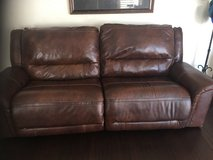 Leather electric reclining couch and love seat in Naperville, Illinois