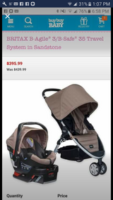 New britax b agile stroller car seat travel system in Chicago, Illinois