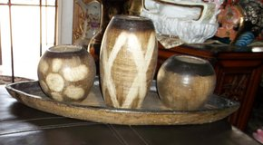 3 wooden candles with tray in Alamogordo, New Mexico