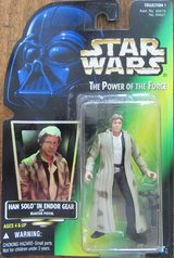 Star Wars Power of the Force: Han Solo in Endor Gear Action Figure NIB in Ramstein, Germany