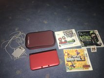 Red Nintendo 3DS XL/charger/case/games in Phoenix, Arizona