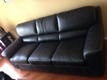 Comfortable black couch, in Ramstein, Germany