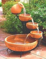 Terracotta Solar Cascade Water Fountain in Ramstein, Germany