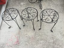 Lot of 3 Wrought iron Plant Stands in Beaufort, South Carolina