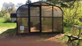12x12 green house with exhaust electric door lock wood shelves and more paid 600 excellent condi... in Lockport, Illinois