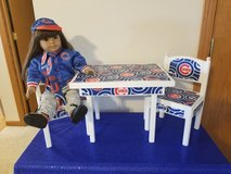 Cubs table/ chair set fits American Girl dolls in Morris, Illinois