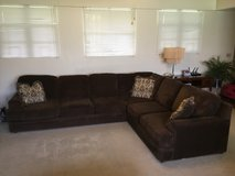 3 Piece Sectional Couch, Brown in Okinawa, Japan