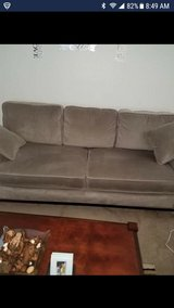 Gray Microfiber couch and loveseat in Travis AFB, California