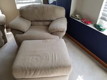 Couch  and chair with ottoman in Naperville, Illinois