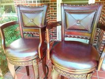 Swivel mahogany bar stools in Fort Benning, Georgia