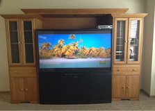 Home Entertainment Center, Solid Oak in Lockport, Illinois