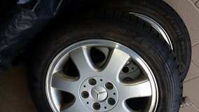RIMS ONLY Set of 4 MERCEDES RIMS, size 205/55R16 (no tires) in Batavia, Illinois