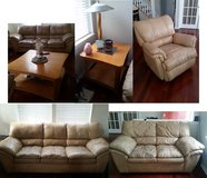 Huge Moving Sale - $400 Leather Couches, $50 Exercise Equipment, $125 Cherry Dining Table and Ch... in Glendale Heights, Illinois