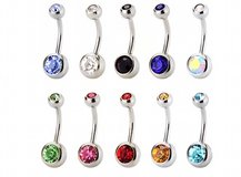 10 pc stainless steel naval belly button rings in Lockport, Illinois