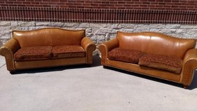 Pair of Leather Sofas in Kingwood, Texas
