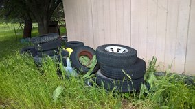 old tires for garden? exercise coarse? patio table? in Travis AFB, California