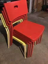 IKEA plastic chairs in Glendale Heights, Illinois