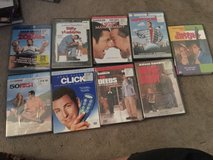 Adam Sandler collection DVD and blu Ray all new in Fairfield, California