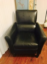Italian leather brown love seat and reclining chair in Fort Eustis, Virginia