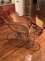 Antique Victorian Wicker Baby Carriage in Bartlett, Illinois