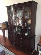Duncan Phyfe Bow Front Mahogany China Cabinet in Travis AFB, California
