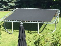 13' square trampoline almost free to a good home in Lockport, Illinois
