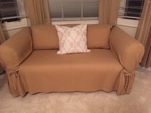 PINK AND WHITE STRIPE LOVE SEAT in Lockport, Illinois
