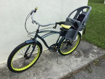 Huffy 6 speed Beach Cruiser Bike w/ Bell Cocoon 500 Deluxe Child Carrier in Okinawa, Japan